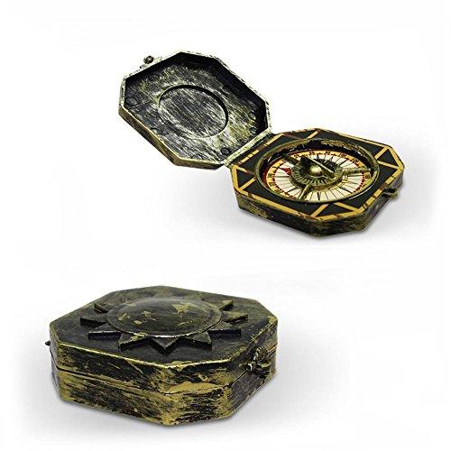 """Preisvergleich Produktbild 8 x HC-Handel 922405 Kompass """"Pirat"""" Navigationsgerät aufklappbar Kunststoff 13, 5 x 6 cm"""