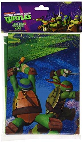 amscan 1,2x 1,8m Teenage Mutant Ninja Turtles Kunststoff Tisch Cover (Ninja Turtles Halloween)