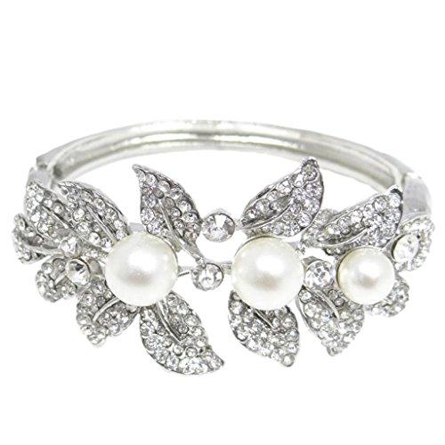 ever-faith-nuziale-dargento-tono-fiore-foglia-simulata-perla-cristallo-bracciale-n00484-1-austriaca