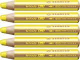 STABILO woody 3 in 1 5er Packung gelb - Multitalent-Stift