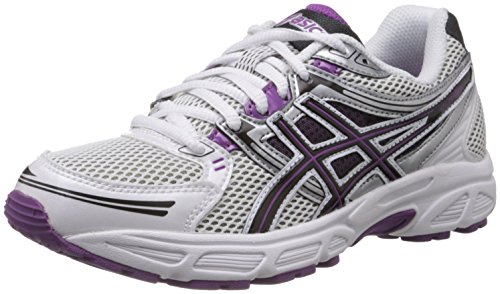 Asics Women's Gel Contend White, Black and Purple Mesh Running Shoes -6 UK/India (39.5 EU)(8 US)  available at amazon for Rs.3199