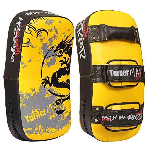 TurnerMAX Thai Pads curvo Brazo Huelga Escudo MMA Kick Boxing punzonad