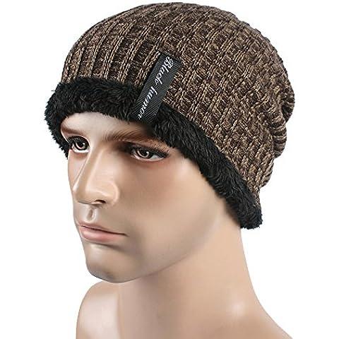 Tapón de lana otoño/invierno hombre exterior de lana y gorro de punto cálido y confortable sombreros de esquí de buenos amigos,