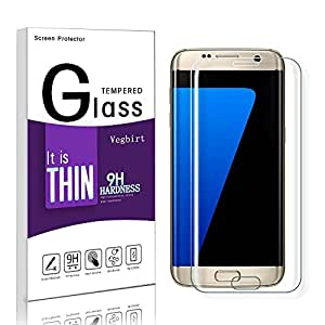Galaxy S7 Edge Protection d' Écran, Vegbirt Verre Trempé Galaxy S7 Edge, Film de Protection d' Écran en Verre Trempé pour Samsung Galaxy S7 Edge