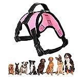 Grivey Hundegeschirr atmungsaktiv für Große Kleine Mittlere Hunde, Einstellbar Weich Brustgeschirr, Pet Weste Welpengeschirr Verstellbar Pet Dog Vest Harness (M, Pink)
