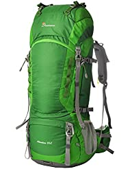 Mountaintop 80L Outdoor Wanderrucksäcke Trekkingrucksäck Reiserucksäck mit Regenhülle, 83 x 36 x 25cm