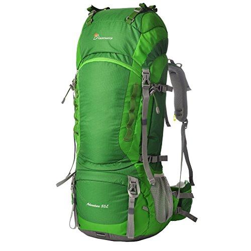 #Mountaintop 80L Outdoor Wanderrucksäcke Trekkingrucksäck Reiserucksäck mit Regenabdeckung, 83 x 36 x 25cm#