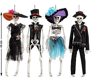 Atosa 49306 Esqueleto decorativo, Unisex - Adulto, multicolor
