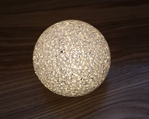LED Kugellampe Kugelleuchte Leuchtkugel 8 cm,12 cm & 15 cm aus Kunststoff Warm Weiß (15 cm)