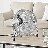 [in.tec]® Bodenventilator Windmaschine Metall Tischventilator Ventilator ø30cm 55W silber