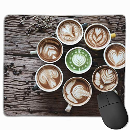"Coffee Coffee Beans Cup Food Still Life Gaming Mouse Pad Non-Slip Rubber Mouse Mat for Computers Desktops Laptop 9.8"" x 11.8"""