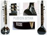 sitar électrique Black Pearl électrique Studio Fusion avec housse de rangement Coque Gsm012g