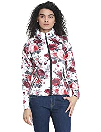 87421d3158b0 CHKOKKO Latest Floral Print Designed Bomber Winter Jacket with Pockets for  Women