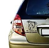 Auto Aufkleber Sticker 25x21 cm American Stafford mit Spruch verschiedenen Farben (Weiß)