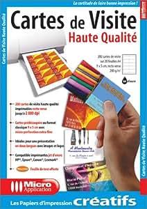 Cartes de Visite Haute Qualité