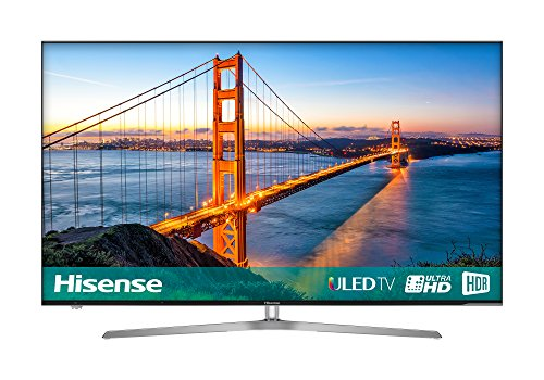 Hisense H65U7AUK 65-Inch 4K Ultra HD ULED Smart TV with HDR and Freeview  Play - Silver/Black (2018)