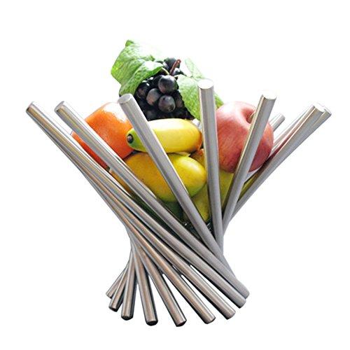 Obstkörbe Edelstahl Obstschale Faltbar Designer Fruchtkorb Gemüsekorb Korb Premier Housewares von GRD