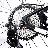 Qewmsg Plegable Bicicleta de montaña 11-42T Flywheels Bicicleta 10 Velocidad Tipo Tarjeta Volante