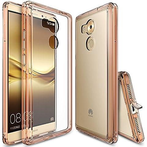 Funda Huawei Mate 8, Ringke [FUSION] Choque Absorción TPU Parachoques [Choque Tecnología Absorción][Conviviente tapón antipolvo] para Huawei Mate 8 - Rose Gold Crystal
