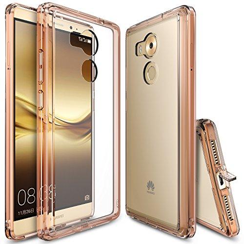 Custodia Huawei Mate 8, Ringke [FUSION] Assorbimento urti TPU Goccia Protezione, Premio Chiaro Forte Indietro [Antistatico][Resistente Ai Graffi] per Huawei Mate 8 - Rose Gold