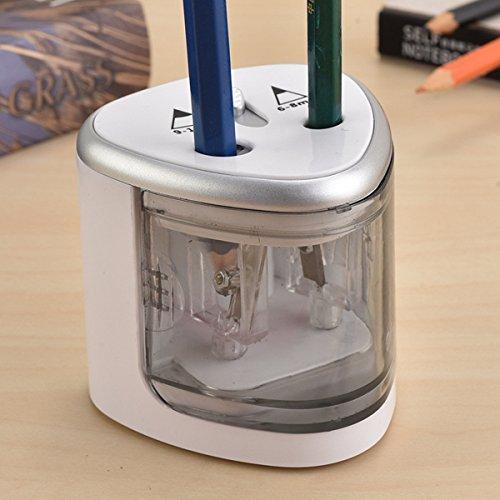 Nuolux temperamatite elettrico con doppio fori temperamatite a batteria automatico per matita di 6–12mm