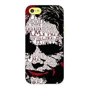 Premium Premier Psyco Typo Multicolor Back Case Cover for iPhone 5C