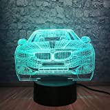 Generic 3D Nachtlicht Nachtlichter 3D Nachtlicht Nachtlampe Car Multi Bulb TableBedroom Decor Weihnachtsschalter Touch Remote