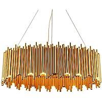 Grande Ovalada Up & Down Bauhaus tubos araña con tecnología LED en oro. 25 LED