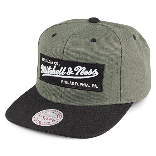 Mitchell & Ness Herren Caps / Snapback Cap Box Logo olive Verstellbar Snap Brim Hut