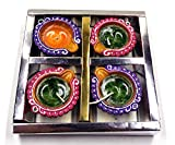 #9: Handmade Wax Filled Clay Diya for Decoration| Pooja| Showpiece| Diwali Decoration| Lamps for Pooja - Pack of 4 by Bharti Enterprise