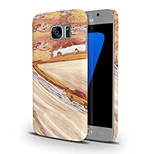 Koveru Designer Printed Protective Snap-On Durable Plastic Back Shell Case Cover for Samsung Galaxy S7