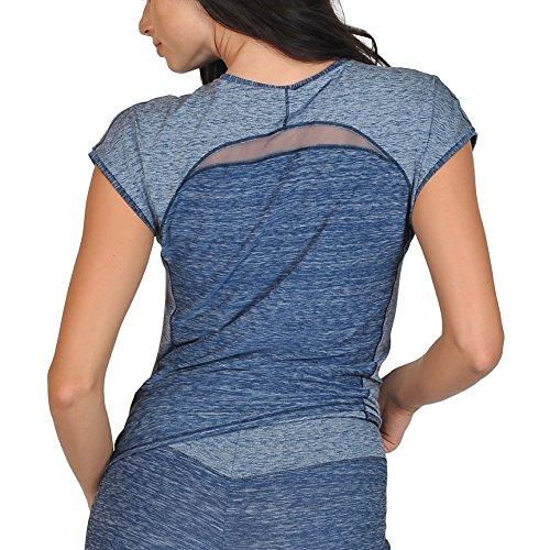 Cheek Damen MISS SPORTY Shirt 63323 Blau-Melange