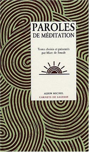 Paroles de Méditation