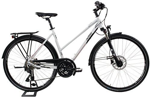 KTM Damen Fahrrad 28 Zoll Veneto Light Disc Trekkingrad - Trapez, Shimano Schaltung, Suntour Federgabel, Nabendynamo (Disc-trekkingrad)