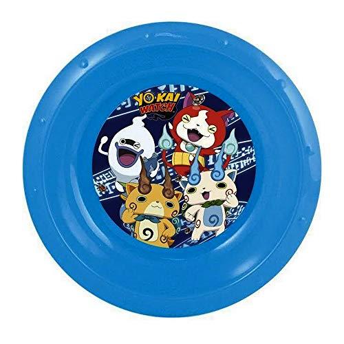 GUIZMAX Assiette Plastique Creuse Yo Kai Watch Repas Enfant