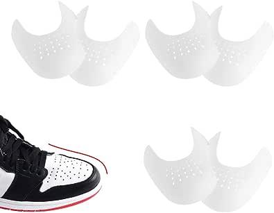 HONGECB 3 Paia Sneaker Scarpa Scudi, Anti-Rughe Protezione per Scudi Toe, Protezioni Contro Le Pieghe delle Scarpe, Leggere e Traspiranti, Evitare Che Le Scarpe Sneaker Pieghino La Rientranza