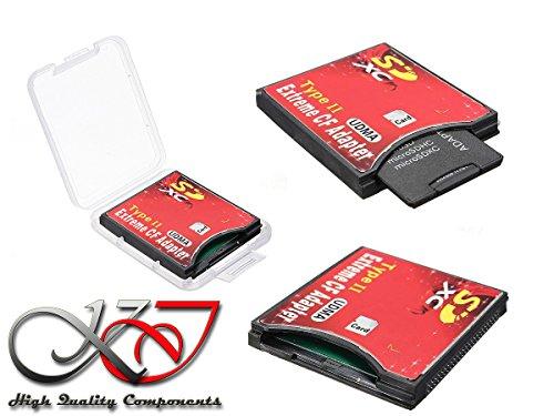 Kalea informatique - adattatore sd sdhc sdxc sd 3.0 verso compact flash cf ii per computer o videocamera canon, nikon