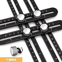 Foru-1 3 St/ück Lineal Multi-Kombination Winkelmesser Winkelmesser Wasserwaage