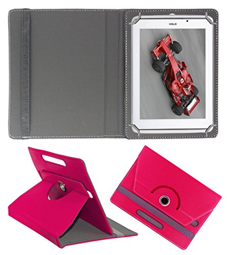 Acm Rotating 360° Leather Flip Case For Xolo Qc800 Tablet Cover Stand Dark Pink  available at amazon for Rs.159