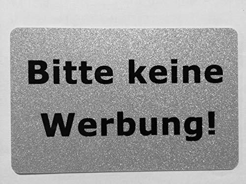 KaiserstuhlCard Magnet 2x Bitte keine Werbung magnetisch und selbstklebend Aufkleber Tür Schild Türschild Briefkasten Briefkastenschild Haus Praxis Büro Geschäft silber (7)