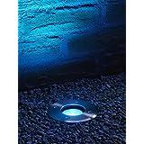 Auraglow LED IP67 Einbauleuchte GU10 Halterung Boden Licht Outdoor Garten Terrasse Weg Deckenfluter & RF Fernbedienung Farbwechsel LED Leuchtmittel Bundle