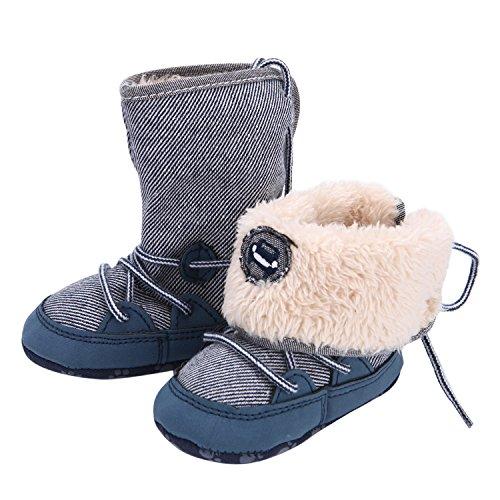 CHIC-CHIC Baby Füßlinge Anti-rutsch Weich Warm Babyschuhe Prewalker Winter Kinder Steifel (6-12 Monate)