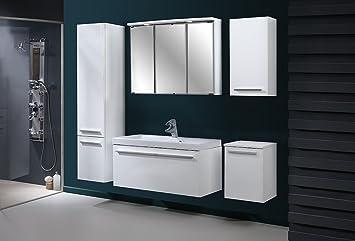 Badezimmermöbel set weiß hochglanz  Badmöbel Set