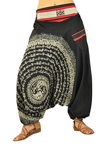 3a7990eeb02cd virblatt Pantaloni alla Turca Donna Pantaloni Etnici Larghi Donna Harem  Pants Yoga - Nirvana SM