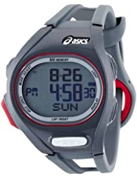 Asics Unisex Race CQAR0206 Grey Polyurethane Quartz Watch with Digital Dial