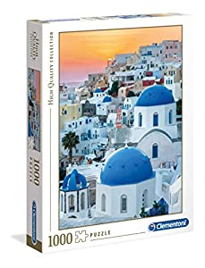 Clementoni Collection puzzle-santorini-1000 Unidades, Multicolor, 39480