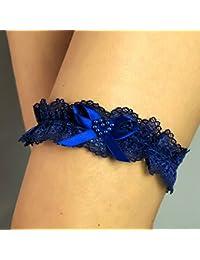 Corazon Liguero liga novia boda puntilla azul regalo novia