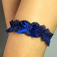 0d5bd5d1d Corazon Liguero liga novia boda puntilla azul regalo novia