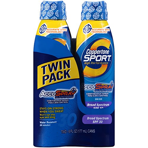 Coppertone Continuous Spray Twin-Pack Sport Spf #30 180 ml (Continuous Spray) -