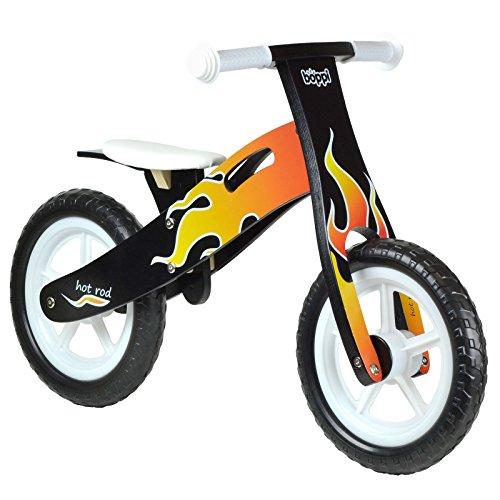 boppi® Bici sin Pedales de Madera para niños de 2-5 años - Llama de Fuego